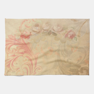 Shabby Chic Floral Kitchen Towel