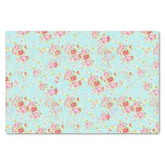 shabby chic floral rose Tissue Paper