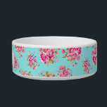 """Shabby Chic Floral Roses Bowl<br><div class=""""desc"""">CUSTOMIZATION   • Add your name,  initial,  monogram.   • Use your favorite fonts,  add custom colors.   • Background color can be changed to any color you like.     TIPS   • Colors displayed online may vary slightly from the actual product.</div>"""