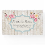 Shabby Chic Floral Rustic Wood & Vintage Boutique Banner