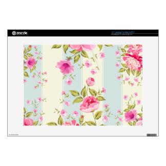 Shabby chic,floral,vintage,pink,blue,creame,trendy laptop skins