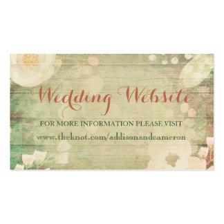 Shabby Chic Florals | Wedding Website Business Card
