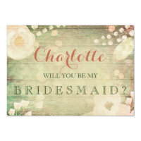 Shabby Chic Florals | Will You Be My Bridesmaid Card