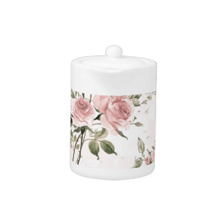 Shabby chic, french chic, vintage,floral,rustic, teapot