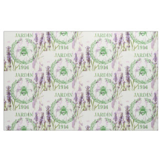 Shabby Chic French Country Lavender Vintage Bee Fabric