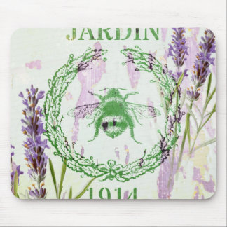 shabby chic french country lavender vintage bee mouse pad