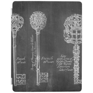 shabby chic french country vintage keys chalkboard iPad cover