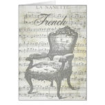 Shabby Chic French Music & Chair