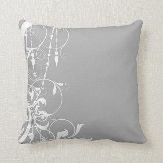 Shabby Chic Grey Pillow