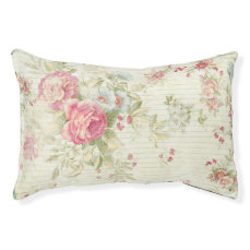 Shabby chic grunge pink floral pattern pet bed