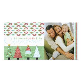 Shabby Chic Holly Jolly Christmas  Photo Card