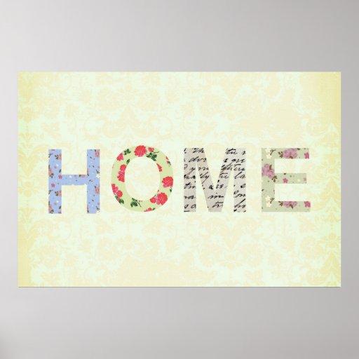 Shabby Chic Home Decorative cream Poster