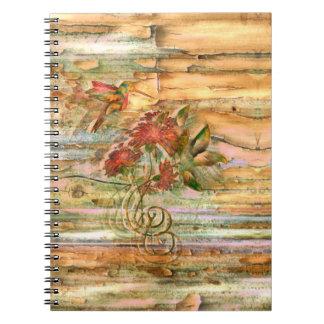 Shabby Chic Hummingbird Flight Notebook