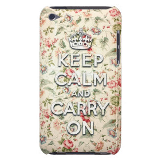 Shabby chic keep calm and carry on barely there iPod cover