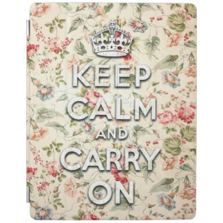 Shabby chic keep calm and carry on iPad cover