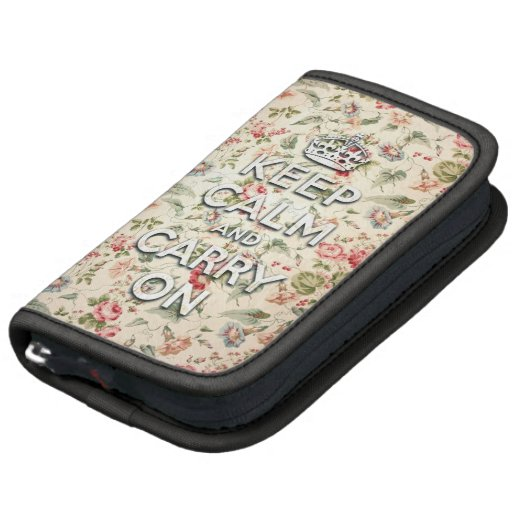 Shabby chic keep calm and carry on organizers