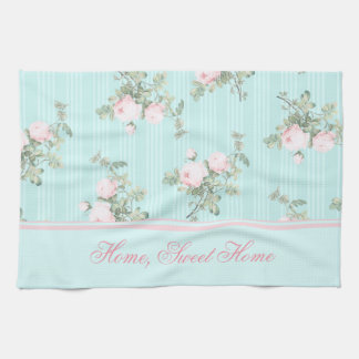 Shabby chic kitchen towel Home, sweet home, custom