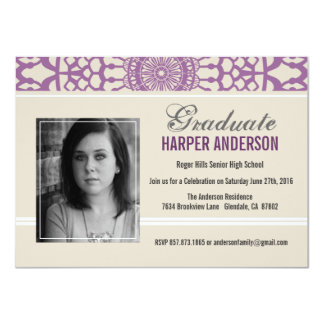 Shabby Chic Lace Graduation Annouoncement Invite