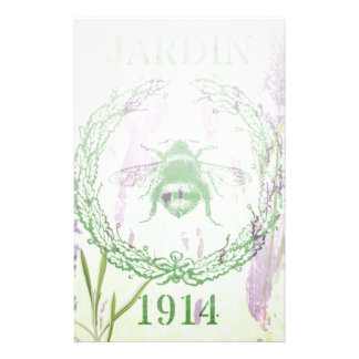 shabby chic lavender vintage bee french country stationery
