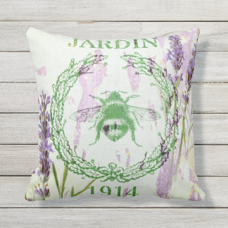 shabby chic lavender vintage bee french country throw pillow