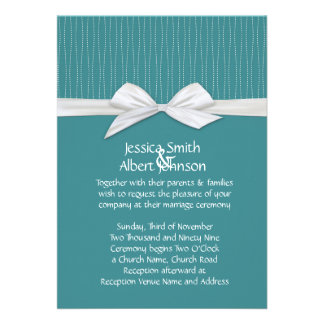 Shabby&Chic Line Emerald Damask Wedding Invite