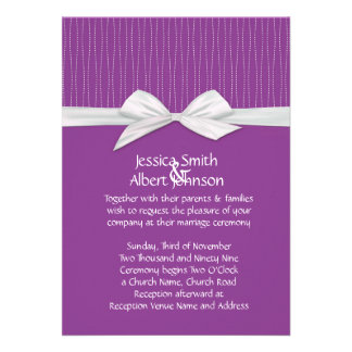 Shabby&Chic Line Purple Damask Wedding Invite