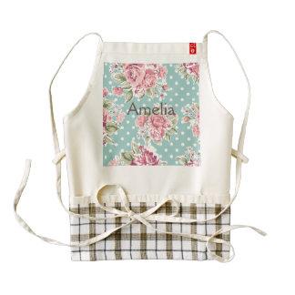 shabby chic mint polka dot pink white vintage girl zazzle HEART apron