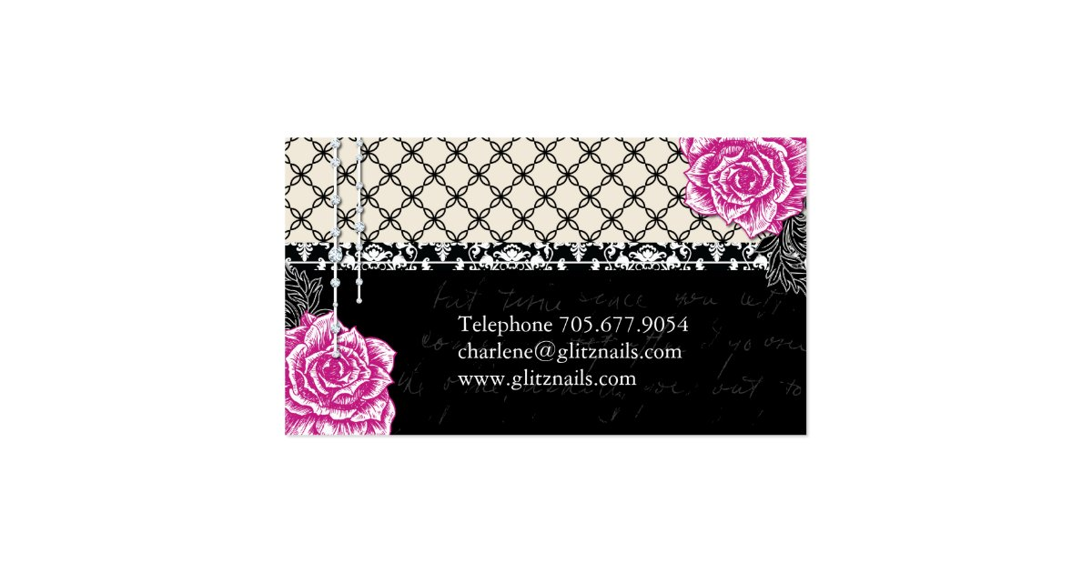 Shabby chic nail salon business cards zazzle for Salon shabby chic