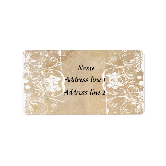 Shabby Chic Old Parchment Address Labels