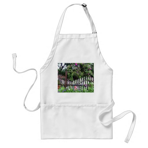 Shabby Chic Painted Garden Fence Adult Apron