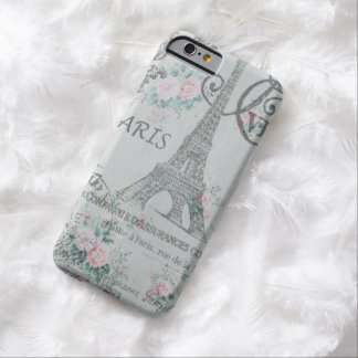 shabby chic paris eiffel tower blue floral barely there iPhone 6 case
