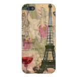 Shabby Chic Paris Eiffel Tower & Red Wine iPhone 5/5S Covers