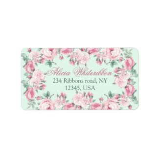 Shabby chic personalized address labels
