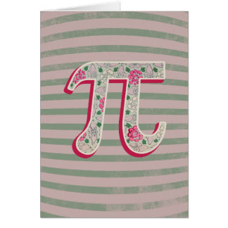 Shabby Chic Pi Day Greeting Cards