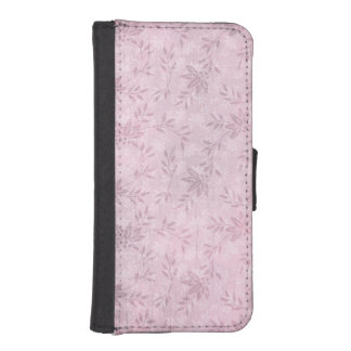 Shabby Chic Pink and White Elegant Flower Floral iPhone 5 Wallet