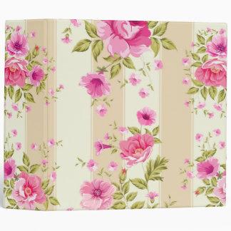 shabby chic, pink floral,beige,vintage,victorian, binder