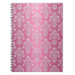 Shabby Chic Pink Floral Damask Note Books