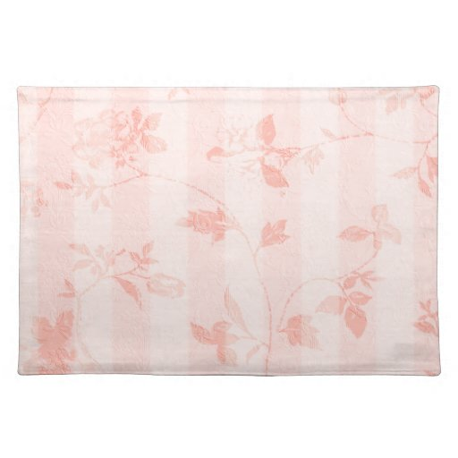 Dining table dining table mats designs - Shabby Chic Pink Floral Placemat Zazzle