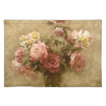 Shabby Chic Pink Rose Place Mats