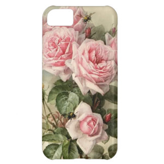 Shabby Chic Pink Victorian Roses Case For iPhone 5C