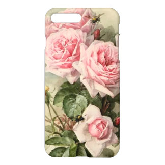 Shabby Chic Pink Victorian Roses iPhone 7 Plus Case