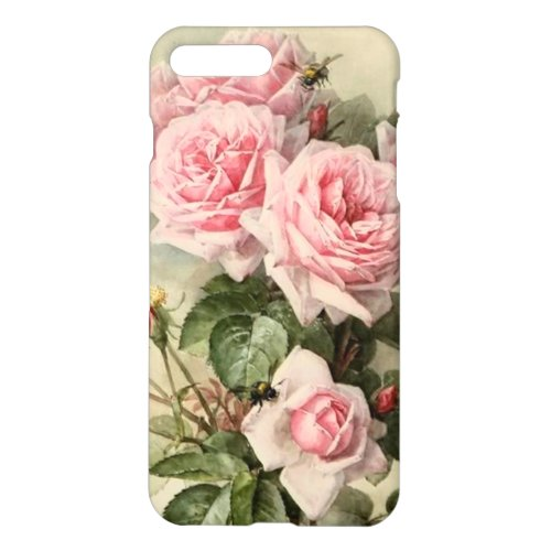 Shabby Chic Pink Victorian Roses Phone Case