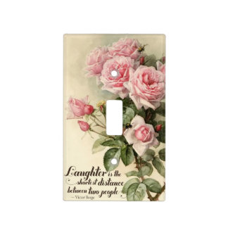 Shabby Chic Pink Victorian Roses Light Switch Cover