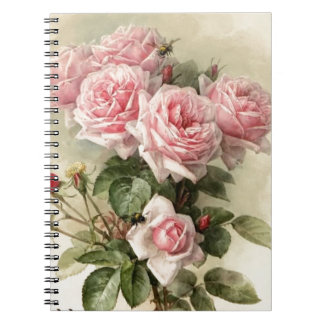 Shabby Chic Pink Victorian Roses Notebook