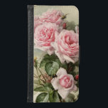 "Shabby Chic Pink Victorian Roses Samsung Galaxy S6 Wallet Case<br><div class=""desc"">This is a gorgeous rendering of California Poppies painted by Paul de Longpre&#39;, a famous artist who immigrated to Hollywood during the Victorian era. He developed an absolutely gorgeous garden retreat of flowers where he created some very popular paintings of the time. I have cleaned up the painting and enhanced...</div>"