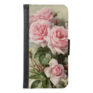 Shabby Chic Pink Victorian Roses Samsung Galaxy S6 Wallet Case