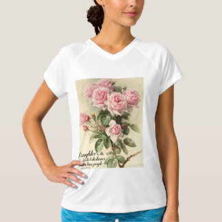 Shabby Chic Pink Victorian Roses T-Shirt