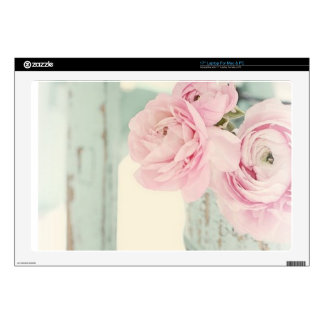 Shabby Chic Pitcher of Pink Flowers Skin For Laptop
