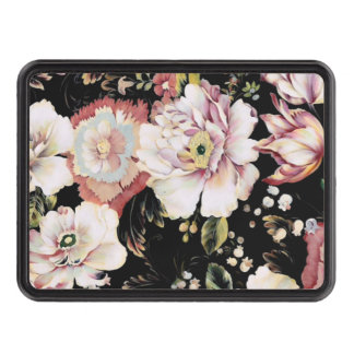 shabby chic preppy girly vintage black floral tow hitch covers