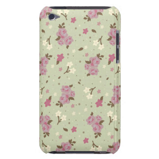 Shabby Chic Pretty Floral Pattern Barely There iPod Case